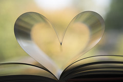 Book Love... (glendamaree) Tags: heart macro book pages nikon d750 nikkor105mm creative abstract love