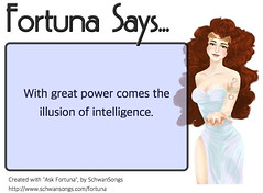 Fortuna Says... (SchwanSongs) Tags: askfortuna ask fortuna fate fortune great power intelligence buxom goddess schwansongs macintosh iphone
