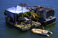 River Camping (swong95765) Tags: river water anchored houseboat squatting selfsufficient