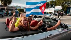 Fidel is dead Viva Cuba Libre.....! (The Sergeant AGS (A city guy)) Tags: exploration street cubans celebration miamifl miamicity event social events