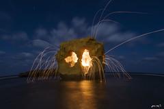 steel wool. (jawhar96) Tags: سوسة مدينة ليبية ليبيا شاطئي شرارة نار ستيل وول steel wool photoshop libya جمال تصوير ليلي جوهر ديهوم canon 7d