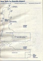 Delta LGA diagram, 2001 (airbus777) Tags: deltaairlines dl newyorklaguardia lga 2001 map diagram terminal airport