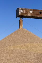 The end of the conveyor belt (Eric Dankbaar) Tags: conveyor gravel blue sky bluesky contrast