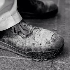 Bakers boots (sjmanning81) Tags: nikond3300 macrolens boots blackandwhite bakery nikon