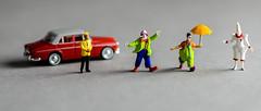 The Clown Car (John G Briggs) Tags: preiser miniature figures ho clowns clown car