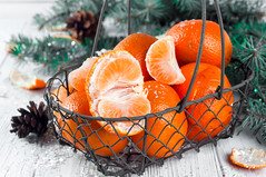 new year composition in basket with mandarins (lyule4ik) Tags: mandarin christmas holiday healthy vegetarian background tree food star fruit ornament nature winter leaf basket celebration citrus year composition fir green new orange pine snow white xmas branch december decor decoration season tangerine beads event gold group needles shiny slice symbol tangerines branches dessert fresh vitamin cone wood wooden backgrounds