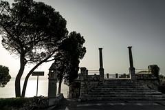 sunset (mdc-photo-graphic.com) Tags: italy italien sunset sky trees sea taormina sicilia sizilien outdoors