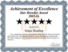 Sonja_Heading_Star_Dog_Breeder_Certificate (bobyarnall) Tags: sonja heading dog breeder sonjaheadingdogbreeder