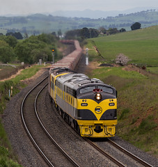 2016-10-30 SSR S317-GM27-GM10-S302 Athol P 8878 (deanoj305) Tags: blayney newsouthwales australia au ssr southern shorthaul railroad s317 gm27 gm10 s302 main western line nsw athol 8878 coal wagon transfer train locomotive streamliner