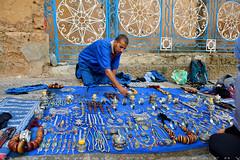 Lets check it out (T Ξ Ξ J Ξ) Tags: morocco chefchaouen sefasawan d750 nikkor teeje nikon2470mmf28 blue city square silver jewelry handicraft