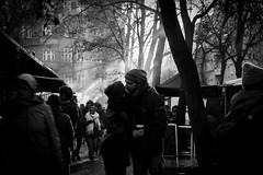 Berlin Love (photalena) Tags: 7dwf bw berlin love makelovenotwar flickrfriday kiss street