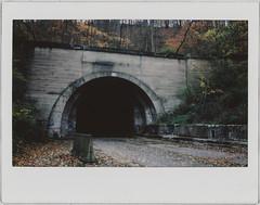 tunnel (Mycophagia) Tags: turnpike tunnel abandoned fuji instax fujiinstax210 fujiinstax300 film analogue print