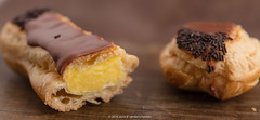 Eclair. (annick vanderschelden) Tags: french baking chocolat choux cooking cream crmeptissire cuisine culinary custard dough filled food gastronomy pastry topped whippedcream clair