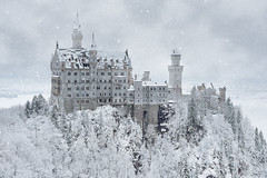 Once upon a time... (FredConcha) Tags: neuschwanstein castele castelo snow snowing fussen german germany trees fredconcha nikon d800 50mm landscape nature