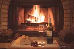 A night by the fire (Christine Swanzy) Tags: wine weekend cozy fire winter