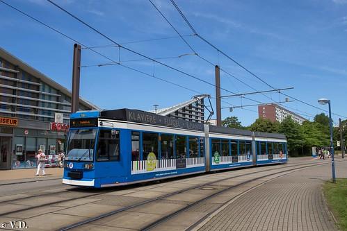 DUEWAG 6N1 (6NGTWDE) der Rostocker Strassenbahn AG (RSAG)