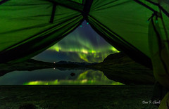 The view from my tent door (Dan F Skovli) Tags: kvnangen tent telttur telt norway nordnorge nordtroms burfjord utptur utinaturen autumn north nordlys northernlights aurora samyang arctic canon6d could scandinavia skovli ngc