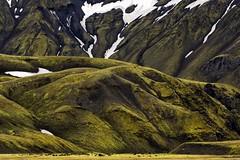 Icelandic Green (Sander Grefte) Tags: iceland landscape landschap ijsland groen green layers lagen mountains bergen abstract snow sneeuw nikon tamron 70300 sandergreftephotoscom