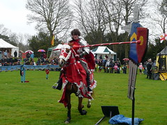 Knight hitting the target (bradbox) Tags: medieval knights jousting hedinghamcastle