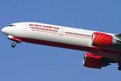 Air India - VT-ALP close up (Andrew_Simpson) Tags: india heathrow depart boeing departure takeoff 777 ai lhr heathrowairport departing airindia londonheathrow egll triple7 777300 777300er londonheathrowairport vtalp