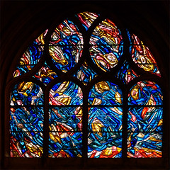 Abstract Window St Severin (Jackie & Dennis) Tags: abstract paris church window stainedglass stseverin bazaine