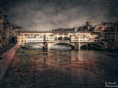 in Florence (DaraDPhotography) Tags: urban italy water buildings canal florence ie textured memoriesbook artistictreasurechest magicunicornverybest wwwdarad500pxcom texturesbypixeldustphotoart