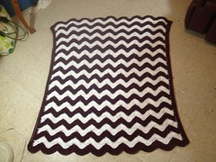 Shirley Brice (The Crochet Crowd) Tags: ripple crochet mikey yarn blanket afghan april redheart chevron challenge freepattern 2013 freecrochetpattern thecrochetcrowd oceanoceanwavesafghan