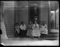 On the back steps (Meyersdale Public Library) Tags: people children women 1910s 1900s porches glassnegatives photobox13
