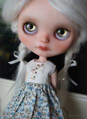 Bianca in Blue Roses dress