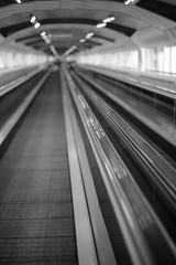 Moving Walkway 142/365 2013 (DSLR) (@Dave) Tags: blackandwhite white black oneaday dave 50mm james moving nikon walkway 600 photoaday 365 nikkor nec pictureaday travelator project365 2013 2013inphotos pad2013365