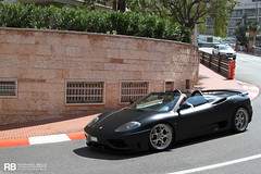360 Modena Spider Hamann (Raphal Belly) Tags: black paris car matt de french photography eos hotel spider riviera noir photographie 8 360 ferrari casino montecarlo monaco mc belly mat exotic v 7d passion modena mate raphael nero rb supercar v8 spotting supercars hamann raphal principality