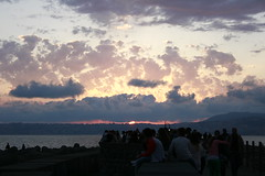 Sunset (AYUMI-TURQUOISE) Tags: pink blue sunset sea sky cloud sun silhouette turquoise naples federica portici molo ayumi pagano granatello