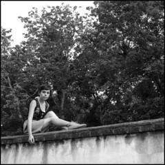 Azotea (Altamira Vctor) Tags: portrait bw woman 120 6x6 libertad retrato bn hasselblad azotea facultad fillm xalapa