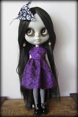 Misery (shepuppy) Tags: gloomy sad ooak gloom blythe misery ruby custom today grumpy spiderwebs shepuppy
