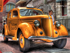 classic yellow cab (ge manuel) Tags: travel classic car canon vintage studio photography eos singapore asia taxi yellowcab pizza restore restored filipino universal universalstudios hdr highdynamicrange universalstudio 500d filipinophotographer rebelt1i kissx3