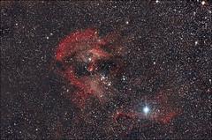 The Running Chicken Nebula - IC 2944 (Teva CHENE) Tags: canon astronomy celestron xsi c14 baader 450d pixinsight starizona ic2944 hyperstar runningchickennebula backyardeos