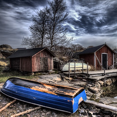 Fishing village Kkar (penttja) Tags: blue sky barn canon finland boat colorful hdr fishingvillage aland land ahvenanmaa kkar kokar
