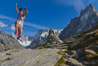 Jumping with Kilian Jornet