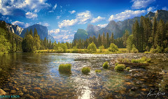 Born in the U.S.A. (Kris Kros) Tags: california ca trees sky mountains water clouds photoshop river nikon rocks stream crystal el clear socal waterfalls yosemite captain kris elcapitan hdr kkg capitan d300 photomatix kros kriskros hdrunleashed