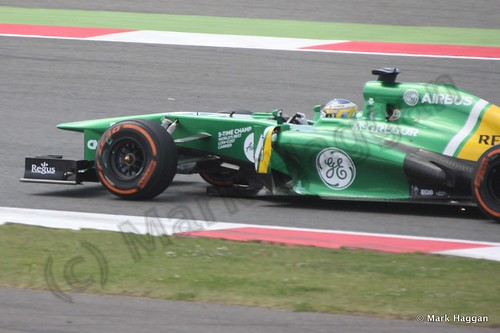 Charles Pic in the 2013 British Grand Prix
