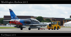 On Tow (Paul Simpson Photography) Tags: airplane czech aircraft jet aeroplane lincolnshire tow towing photosof imageof photosfrom photoof imagesfrom sonya77 paulsimpsonphotography rafwaddingtonairshow2013 imagesor