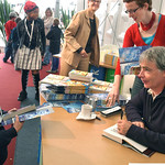 Eoin Colfer signs books at the 2004 Edinburgh International Book Festival