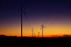 Saturday Drives (AlxDesignsOfficial) Tags: road sunset landscape power australia queensland poles