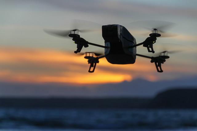 uk greatbritain sunset england beach canon fly sand unitedkingdom flight devon 7d bigbury carbonfibre bigburyonsea quadcopter ardrone quadcoppter