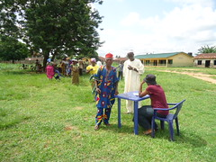 Farmers registering for cassava training at Umuata, Nigeria (IITA Image Library) Tags: usaid nigeria cassava iita manihotesculenta improvedvarieties