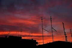 Sky is red over Rome 1 (AndBiancafarina) Tags: sunset red roma sunshine redsky cieloromano nikonclubit