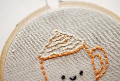Pumpkin Spice Latte Tiny Pattern (wildolive) Tags: pattern embroidery starbucks tiny psl wildolive pumpkinspicelatte