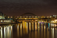 Reflections on the Tyne (Callaghan69) Tags: city uk longexposure bridge england night clouds reflections river landscape lights nikon cityscape colours nightscape north landmark icon sage gateshead tynebridge citylights slowshutter nikkor iconic newcastleupontyne tynewear rivertyne northeastengland d7100