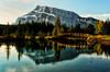 First Light at Cascade Pond (Jeff Clow) Tags: morning nature landscape albertacanada banffnationalpark firstlight canadianrockies cascadepond ©jeffrclow jeffclowphototour