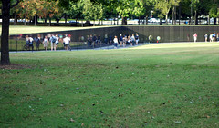 Maya Lin, Vietnam Veterans Memorial, lawn down to memorial